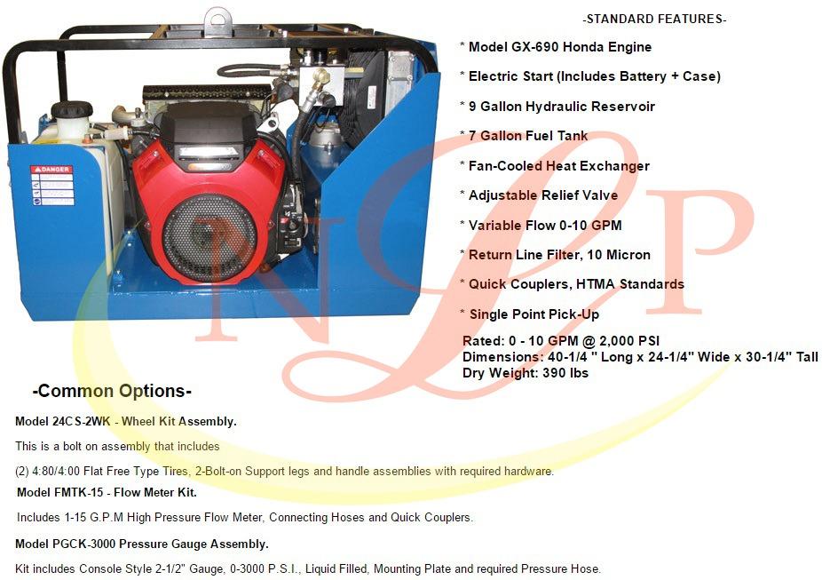 Bộ nguồn thủy lực xăng 22.4 HP