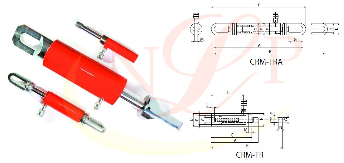 Kích kéo thủy lực 1 chiều CRM TRA-TR 100 tấn